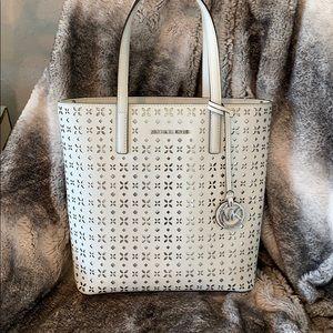 Micheal Kors white eden purse